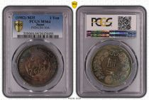 Japón 1 Yen Dragon  - 1902 M35- PCGS MS 64