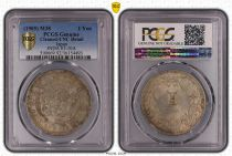 Japón 1 Yen Dragon  - 1905 M38- PCGS Genuine