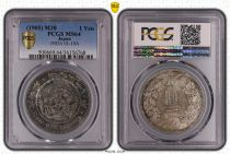 Japón 1 Yen Dragon  - 1905 M38- PCGS MS 64