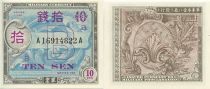 Japon 10 Sen Allied Military Currency - Lettre B