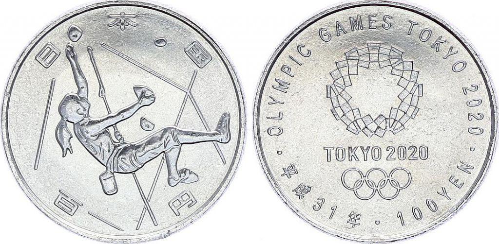 Japon 100 Yen, Escalade Sportive - JO TOKYO 2020 - SPL