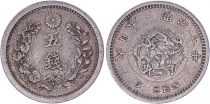 Japon 5 Sen Dragon - 1877 Meiji An 10