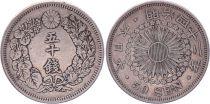 Japon 50 Sen - 1909 Meiji An 42