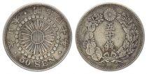 Japon 50 Sen, Fleur - Années variées 1913 à 1926