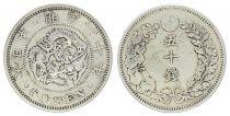 Japon 50 Sen, Fleur - Dragon - 1897 YR. 30 - 1er. ex.