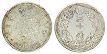 Japon 50 Sen, Fleur - Dragon - 1905 YR. 38 2ème. ex