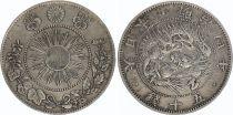 Japon 50 Sen Dragon - 1871 Meiji 4 - 3 em ex