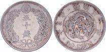 Japon 50 Sen Dragon - 1897 Meiji An 30