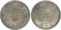 Japon 50 Sen Dragon (Petit) - 1871 Meiji 4 - 3 er ex
