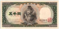Japon 5000 Yen Shotoku-taishi - Banque Central - 1957