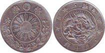 Japon Y.4 50 Sen, KM.Y4 - 1871