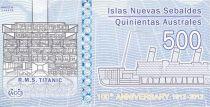 Jason Islands 500 Australes, Titanic (1912-2012) - 2012