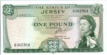 Jersey 1 Pound Elisabeth II - Chateau de Mont Orgueil - 1963  - G