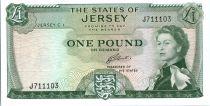 Jersey 1 Pound Elisabeth II - Chateau de Mont Orgueil - 1963