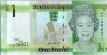Jersey 1 Pound Elisabeth II - Le Hocq Tower 2010