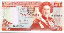 Jersey 10 Pounds Elisabeth II - Battle of Jersey - 2000