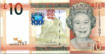 Jersey 10 Pounds Elisabeth II - Tour Seymour - 2010