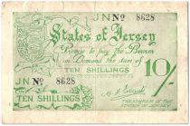 Jersey 10 Shillings Femme et Vaches - 1941