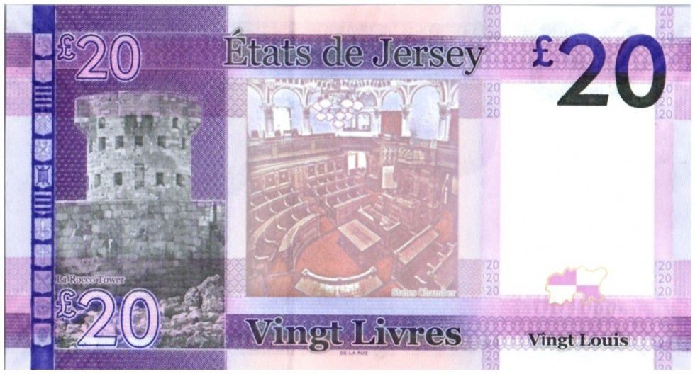 Jersey 20 Pounds Elisabeth II - La Rocco Tower