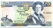 Jersey 20 Pounds Elisabeth II - Manoir St Ouen 2000