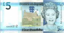 Jersey 5 Pounds Elisabeth II - Archirondel Tower 2010
