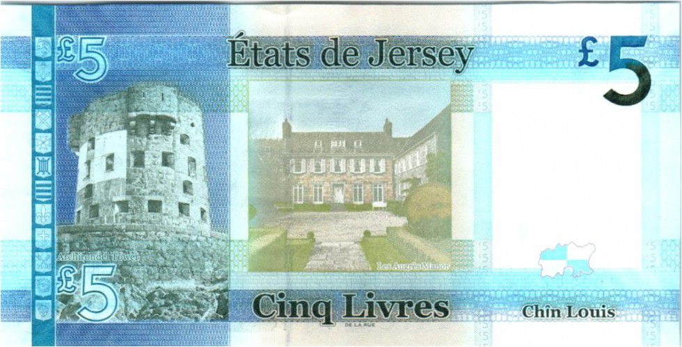 Jersey 5 Pounds Elisabeth II - Archirondel Tower 2010