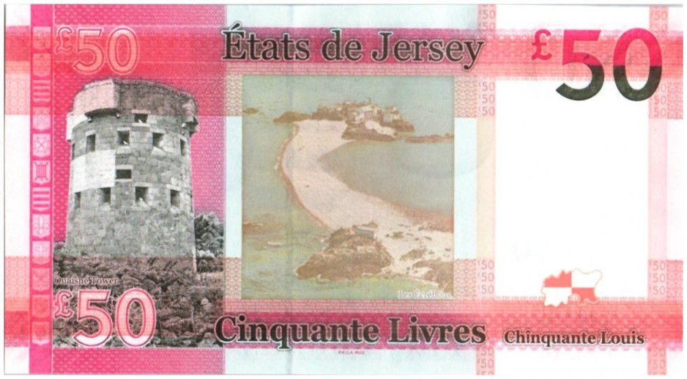 Jersey 50 Pounds Elisabeth II - Ouaisné Tower