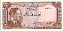 Jordan 1/2 Dinar Roi Hussein - Forum - 1965