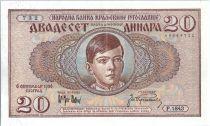 Jugoslawien 20 Dinara King Peter II - 1936
