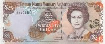 Kaimaninseln 25 Dollars  Elizabeth II, islands map - 2006 Serial C2