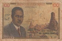 Kamerun 100 Francs ND1962 - Pdt Ahidjo, Boats - Serial X.13