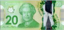 Kanada 20 Dollars Elizabeth II - Monument - Polymer 2012 (2014)