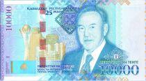Kazakhstan 10000 Tengé,  Noursoultan Nazarbaïen , 25 ans Indépendance - 2016