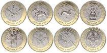 Kazakhstan Set of 7 coins 2020 - 7 x 100 Tenge - Treasures of Step - Bimetal
