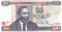 Kenia 100 Shillings M. J. Kenyatta - Statue, Building - 2010