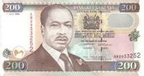 Kenia 200 Shillings Pres. D. Toroitich Arap Moi - Monument