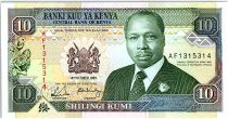 Kenya 10 Shillings  - Daniel Toroitich Arap Moi -1989