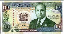 Kenya 10 Shillings  - Daniel Toroitich Arap Moi -1990