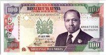 Kenya 100 Shillings  - Daniel Toroitich Arap Moi -1990