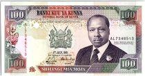 Kenya 100 Shillings  - Daniel Toroitich Arap Moi -1991