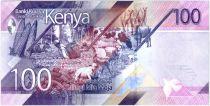 Kenya 100 Shillings M. J. Kenyatta - Animaux - 2019 - Neuf