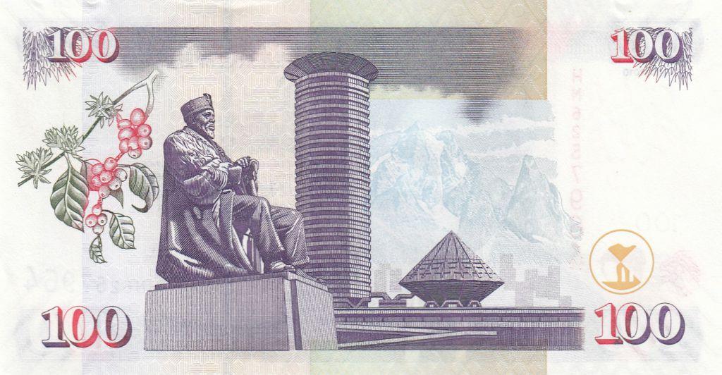Kenya 100 Shillings M. J. Kenyatta - Statue, Bâtiment - 2010