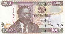Kenya 1000 Shillings M. J. Kenyatta - Eléphants, Rhino, Buffles - 2010