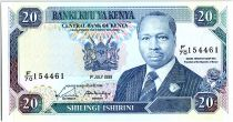 Kenya 20 Shillings  - Daniel Toroitich Arap Moi -1989