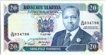 Kenya 20 Shillings  - Daniel Toroitich Arap Moi -1990