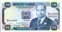 Kenya 20 Shillings  - Daniel Toroitich Arap Moi -1991