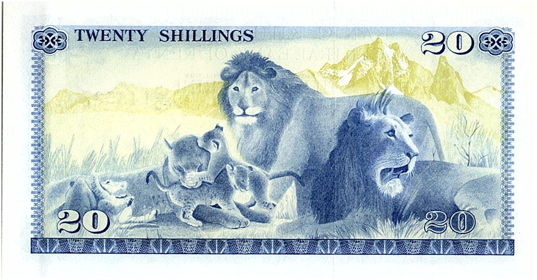 Kenya 20 Shillings - Mzee Jomo Kenyatta - Lions -1978