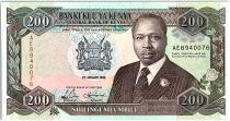 Kenya 200 Shillings  - Daniel Toroitich Arap Moi -1992