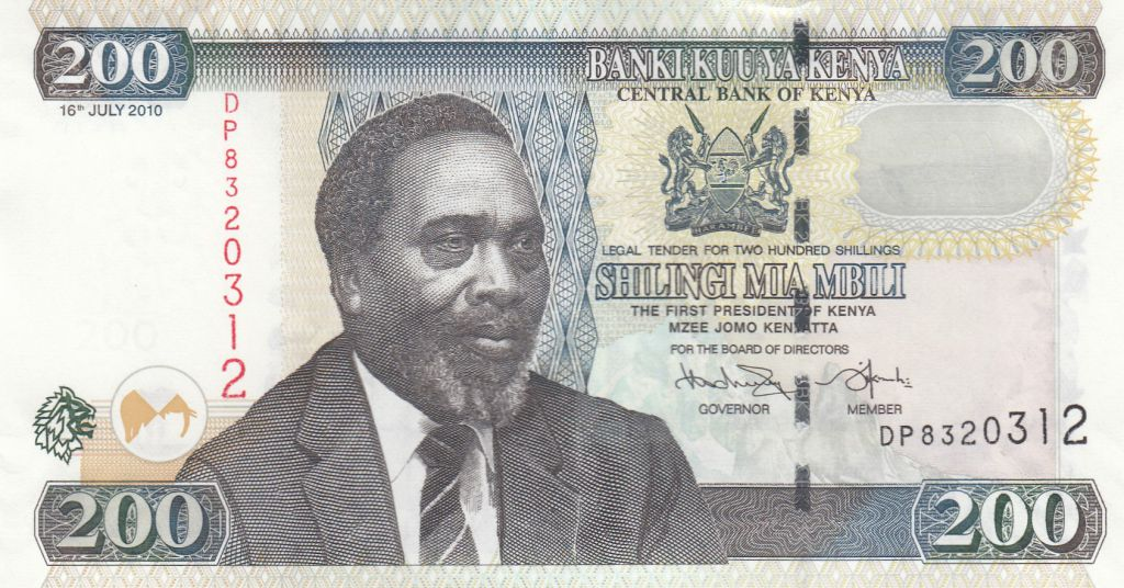 Kenya 200 Shillings M. J. Kenyatta - Cotton harvesting - 2010