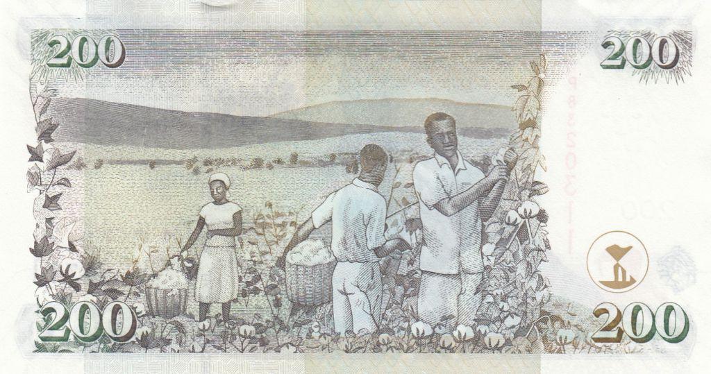 Kenya 200 Shillings M. J. Kenyatta - Récolte du coton - 2010